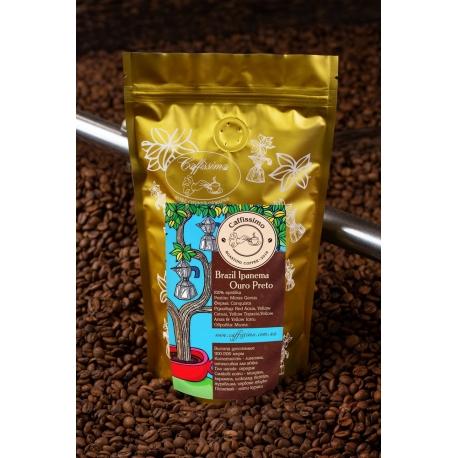 Свіжообсмажена кава в зернах арабіка Бразилія Іпанема Дульсе