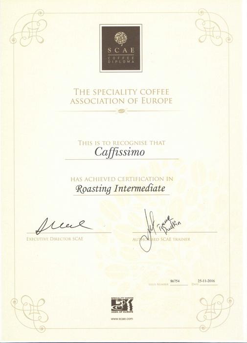 сертификат SKAE обжарка кофе